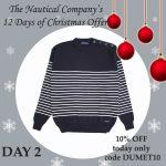 Day 2 Christmas Offer Breton striped jumper