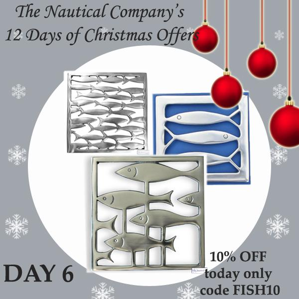 Christmas offers 2016 - Fish Trivets - Coastal hot plant stands