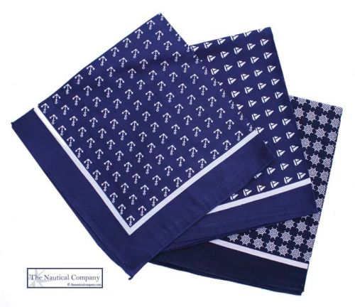 Nautical Bandanas, Navy Blue