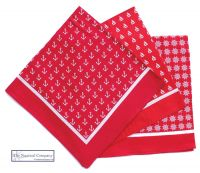 Nautical Bandanas, Red