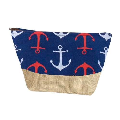 Nautical Pouch Bag with Anchors