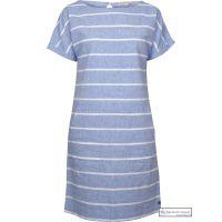 Summer Linen Dress, Stripy Blue