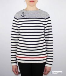 Women's Anchor Striped Jumper