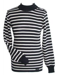 Ladies' Wool Turtleneck Breton Jumper