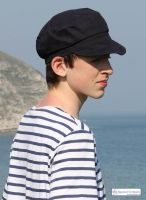 Traditional Breton Cap, Cotton Canvas (Navy or Red Brick)