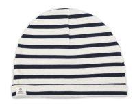 Sailor Cotton Stripe Hat, Cream/Navy Blue