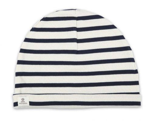 Sailor Cotton Stripe Hat, Cream/Navy Blue