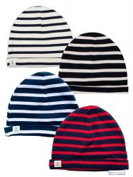Sailor Cotton Stripe Hats (adults), Cream/Navy Blue