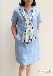 Linen Dress, Pastel Blue