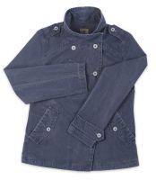 Ladies' Funnel Neck Jacket, Distressed Navy Blue (only UK18 - FR46 - US14 left)