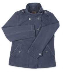 Ladies' Funnel Neck Jacket, Distressed Navy Blue (only UK18 - FR46 - US14 left)