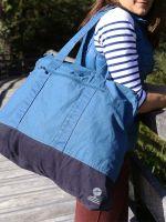 Large Canvas Beach Bag, Blue