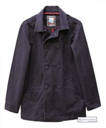 Men's Cotton Peacoat, Navy Blue