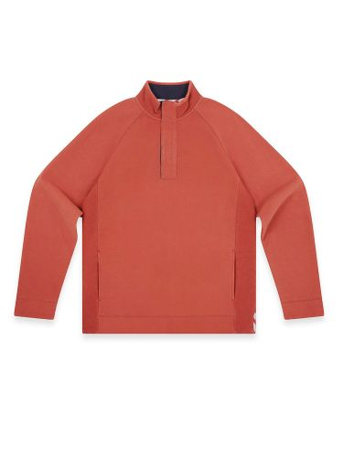 Men's Piqué Sweatshirt, Pumpkin Orange