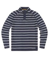 Men's Nautical Piqué Striped Sweatshirt