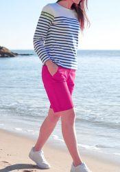 Women's Bermuda Shorts, Fuchsia Pink