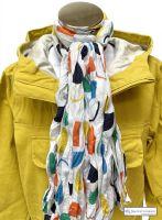 Women Cotton Scarf, White, Menhirs Print