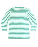 3/4 Sleeve Stripe Top, Cream/Green