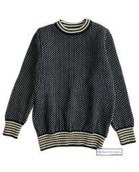 Nordic Crew Neck Sweater, Navy/Cream