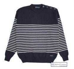 Men's Breton Striped Wool Jumper (only XXL left)