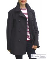 Women's Breton Pea Coat Jacket