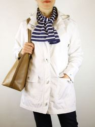 Ladies' Waterproof Parka, White, Armor Lux