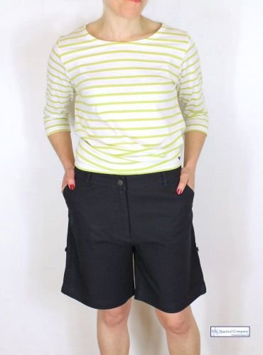 Women's shorts, Navy Blue, Cotton Canvas