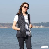 Women's Nautical Navy Blue Quilted Gilet, Lightweight