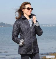 Women's Nautical Navy Blue Quilted Jacket (only UK 10 - FR 38 - US 6 left)