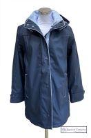 Women's Winter Hooded Raincoat, Navy Blue