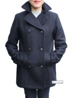 Women's Pea Coat, Wool Blend