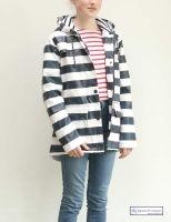 Women's Striped Raincoat
