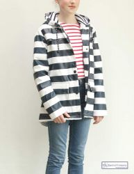 Women's Striped Raincoat (padded)
