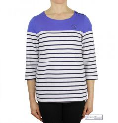 Colour Block Striped Top, Royal Blue