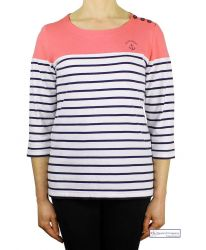 Colour Block Stripe Top, Coral (only UK10-FR38-US6 left)