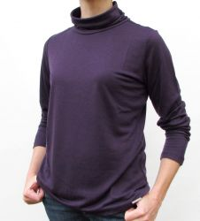 Women's Purple Roll Neck top