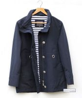 Women's Nautical Lined Waterproof Jacket (Navy Blue)