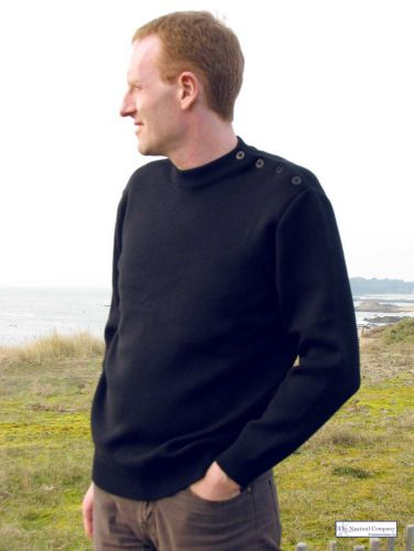 Men's Breton Jumper, Navy Blue