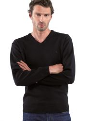 V Neck Yachting Jumper, Navy Blue