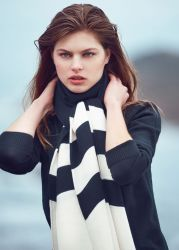Merino Wool Wave Scarf
