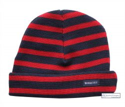 Navy Blue/Red Stripe Hat