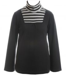 Womens' Extra Fine Merino Polo Roll Neck Sweater (only UK10-FR38-US6 left)
