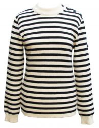 Women's Breton Sweater (cream & navy)