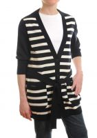 Women's Striped Long Cardigan