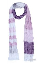 Tricoloured Crinkle Scarf (pink, plum, white)