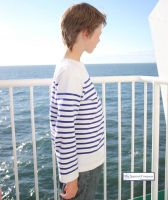 Children's Sailor Top, White/Blue