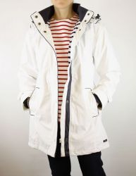 Women's Lined Raincoat, White