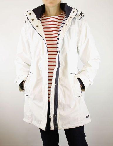 Women S Lined Raincoat White Waterproof Jacket Ladies The Nautical Company Uk