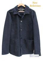 Men's Cotton Canvas French Work Jacket, Navy Blue