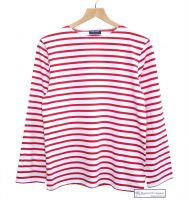Saint James White/Red Striped Breton Shirt